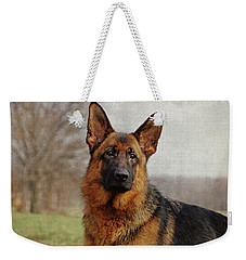 Weekender Tote Bag featuring the photograph Beautiful Raven by Sandy Keeton