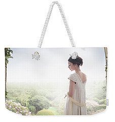 Beautiful Regency Woman Beneath A Wisteria Arch Weekender Tote Bag