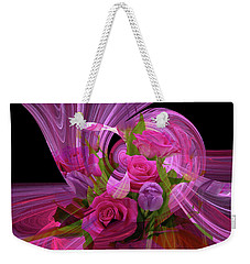 Beautiful Rose Bouquet Montage Weekender Tote Bag