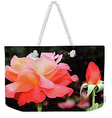 Beautiful Rose With Bud Weekender Tote Bag by Ellen Tully