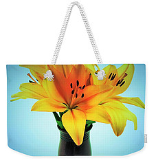 Weekender Tote Bag featuring the photograph Beautiful Royal Lilies  by Ray Shrewsberry