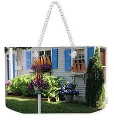 Weekender Tote Bag featuring the photograph Beautiful Ship Flower Boxes 2 by Living Color Photography Lorraine Lynch