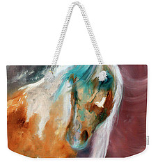 Weekender Tote Bag featuring the painting Beautiful Spirit by Barbie Batson