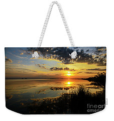 Beautiful Sunset At The Lake Weekender Tote Bag