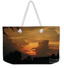 Weekender Tote Bag featuring the photograph Beautiful Sunset by Debra Crank
