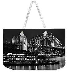 Beautiful Sydney Harbour In Black And White Weekender Tote Bag