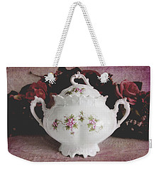 Weekender Tote Bag featuring the photograph Beautiful Victorian Bowl  by Trina Ansel