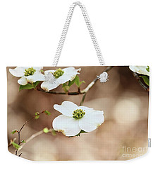 Beautiful White Flowering Dogwood Blossoms Weekender Tote Bag by Stephanie Frey