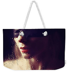 Beautiful Woman Blindfolded #8313 Weekender Tote Bag