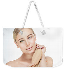 Beautiful Woman Combing Her Hair Weekender Tote Bag