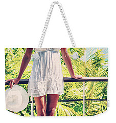Beautiful Woman In The Beach House Weekender Tote Bag