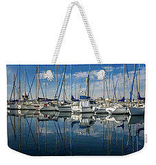 Beautiful Yachts Moored In The Marina Weekender Tote Bag