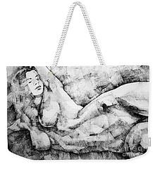 Beautiful Young Girl Pencil Art Drawing Weekender Tote Bag