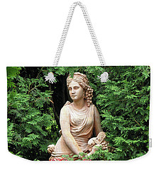 Weekender Tote Bag featuring the photograph Beauty Among The Flowers by Betty Denise