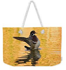 Wood Duck Sunset  Weekender Tote Bag