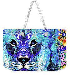 Beauty And The Beast - Lion Art - Sharon Cummings Weekender Tote Bag by Sharon Cummings