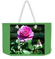 Weekender Tote Bag featuring the photograph Beauty And The Bud by Will Borden