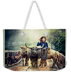 Beauty And The Water Buffalo Weekender Tote Bag