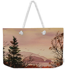 Weekender Tote Bag featuring the painting Beauty At The Shore by James Williamson