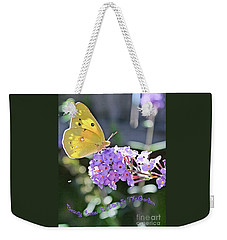 Beauty Comes To Visit Weekender Tote Bag