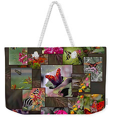 Beauty In Butterflies Weekender Tote Bag by DigiArt Diaries by Vicky B Fuller