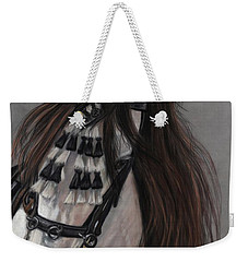 Weekender Tote Bag featuring the painting Beauty In Hand by Sheri Gordon