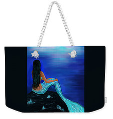 Weekender Tote Bag featuring the painting Beauty Of The Isle by Leslie Allen