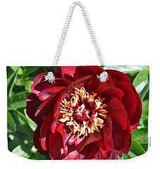 Beauty Peony Bloom Weekender Tote Bag by Marsha Heiken