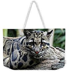 Clouded Leopard Beauty Weekender Tote Bag