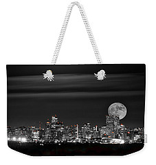 Beaver Moonrise In B And W Weekender Tote Bag