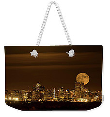 Beaver Moonrise Weekender Tote Bag