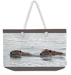 Beaver Pair I Weekender Tote Bag