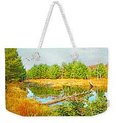 Beaver Pond Weekender Tote Bag