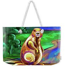 Beaver Pose Weekender Tote Bag