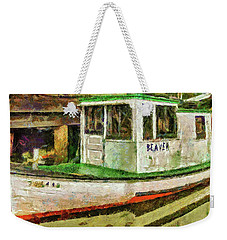 Weekender Tote Bag featuring the photograph Beaver The Old Fishing Boat by Thom Zehrfeld