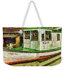 Beaver The Old Fishing Boat Weekender Tote Bag by Thom Zehrfeld