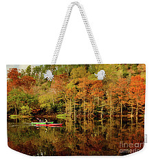 Beaver's Bend Canoeing Weekender Tote Bag by Tamyra Ayles