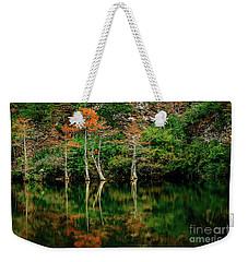 Beaver's Bend Color Explosion Weekender Tote Bag by Tamyra Ayles