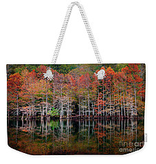 Beaver's Bend Cypress Soldiers Weekender Tote Bag by Tamyra Ayles