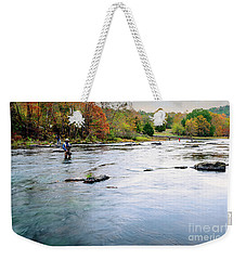 Beaver's Bend Fly Fishing Weekender Tote Bag by Tamyra Ayles