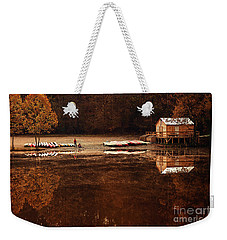 Beaver's Bend Quiet Morning Weekender Tote Bag by Tamyra Ayles