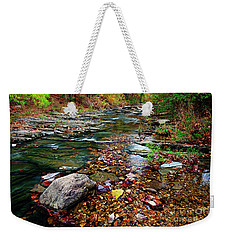 Beaver's Bend Tiny Stream Weekender Tote Bag by Tamyra Ayles