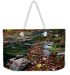 Beaver's Bend Tiny Stream Vertical Weekender Tote Bag by Tamyra Ayles