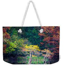 Beavers Bend Trees Weekender Tote Bag by Inge Johnsson