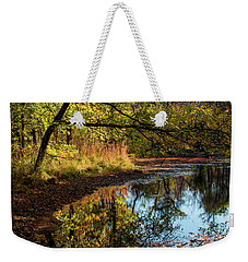 Weekender Tote Bag featuring the photograph Beaver's Pond by Iris Greenwell