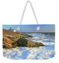 Beavertail Point And Lighthouse  Weekender Tote Bag by Roupen  Baker