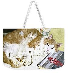Bedtime Cat Weekender Tote Bag