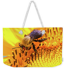Bee And Sunflower Weekender Tote Bag