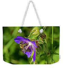 Bee At Work Weekender Tote Bag by Ulrich Burkhalter