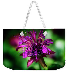 Weekender Tote Bag featuring the photograph Bee Balm Beauty by Chrystal Mimbs
